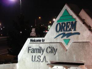 Orem Sign near the University Parkway Exit
